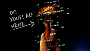 LED projection ads